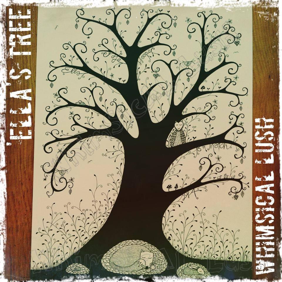 Ella's Tree: An A4 Illustration commissioned for a little girl's 7th birthday. Hopefully she will enjoy it forever.....