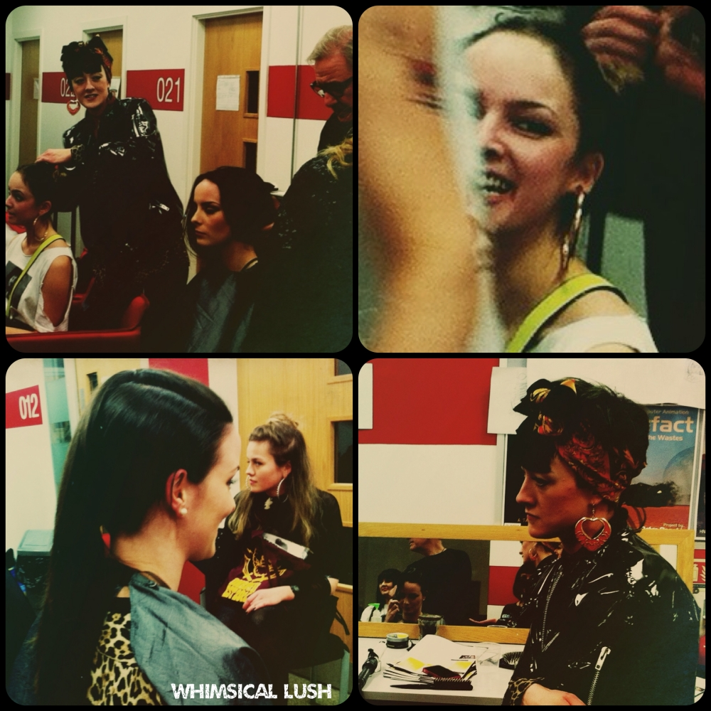 Sarah & co. backstage