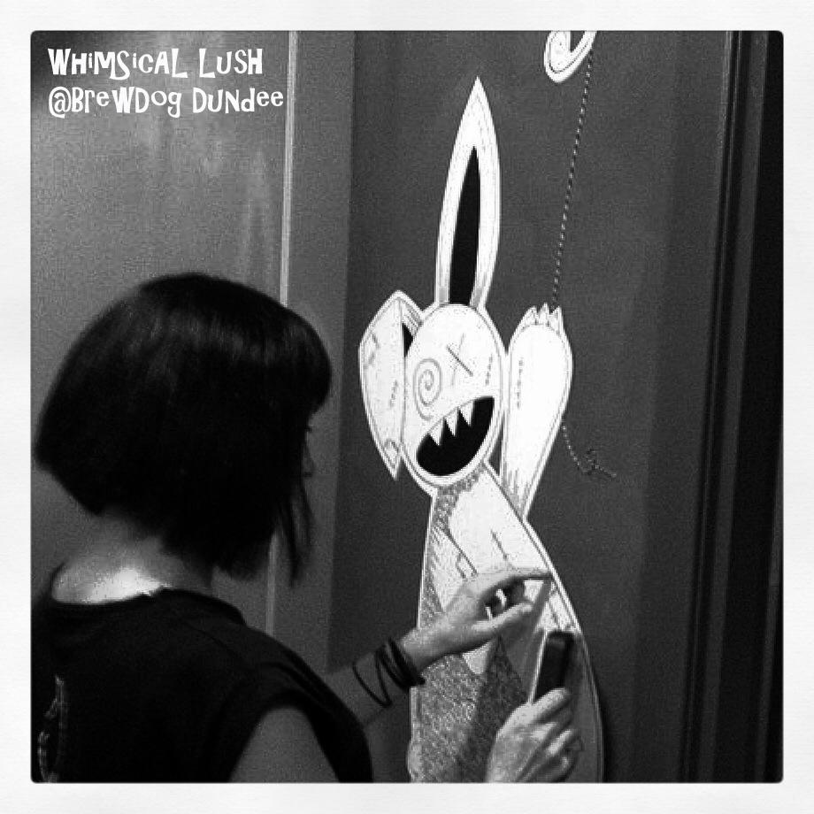Me pasting up Zombie Rabbit WhimSicAL LusH
