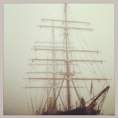 RRS Discovery Ghost Ship in the Fog by WhimSicAL LusH