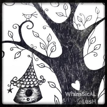 WhimSicAL LusH Bird House Illustration