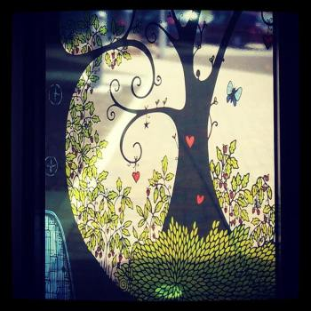 WhimSicAL LusH tree vinyl on window