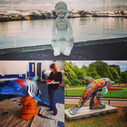 oor wullie Dolphins Dundee and Angus Chamber